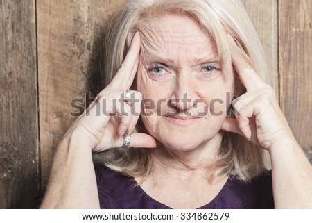A senior woman seam to be healty - stock photo