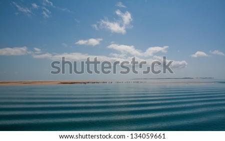 A serene scene in the Bazaruto Archipelago of Mozambique - stock photo