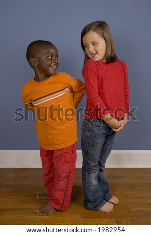 A series of images showing children of Diverse backgrounds. - stock photo