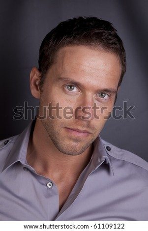 A serious portrait of a man. - stock photo