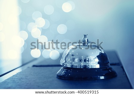 A service bell in a hotel - stock photo