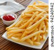 A Serving of fries - stock photo