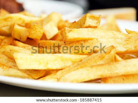 A Serving of fries.