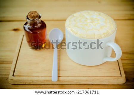 A set of coffee in vintage tone - stock photo