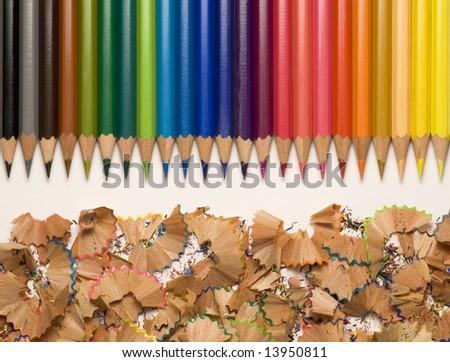 a set of color pencil - stock photo