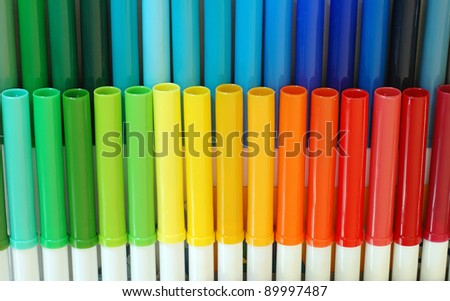 set colorful markers all colors rainbow stock photo edit now