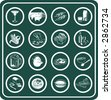 A set of food and drink icons. Raster version - stock photo