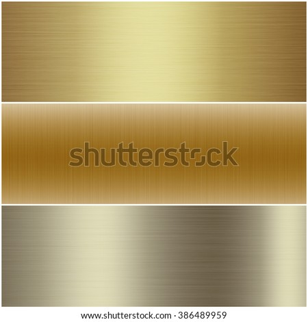 A set of golden surface texture background