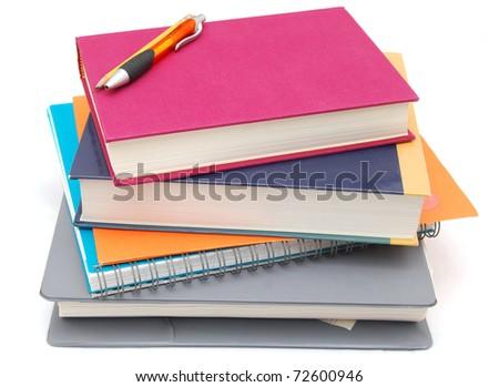 A set of homework pile - stock photo