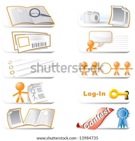 A set of icons generally centered on community and events. - stock photo