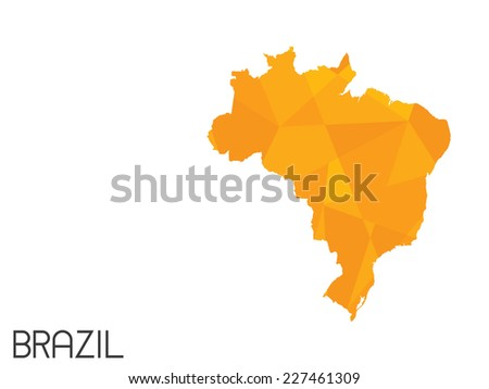 A Set of Infographic Elements for the Country of Brazil - stock photo