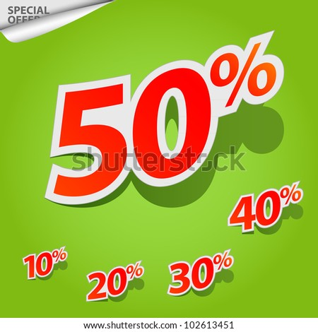 A set of labels for special offers and sales discount - stock photo