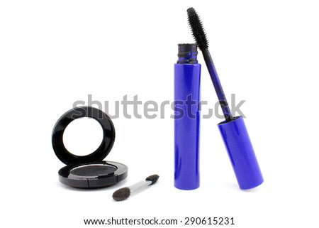 A set of makeup in black tones - stock photo