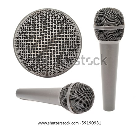 A set of microphones - stock photo
