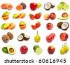 A set of mix fruit - stock photo