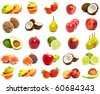 A set of mix fruit - stock photo