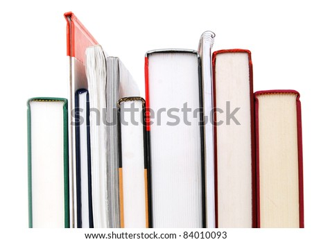 A set of row books on background - stock photo