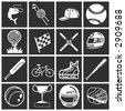 a set of sports icons / design elements. Raster version - stock photo