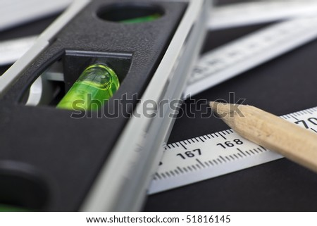 A set of tools for measuring. - stock photo