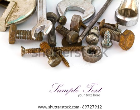 A set of tools - isolated on white background. - stock photo