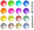 a set of web desgin buttons, icons, badges - stock photo