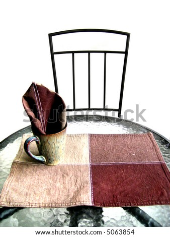 a set table - stock photo
