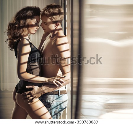 A sexy young couple - stock photo