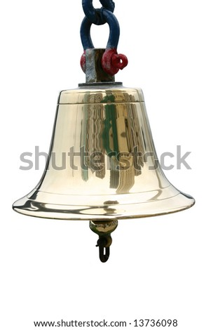 A ship's bell isolated on white
