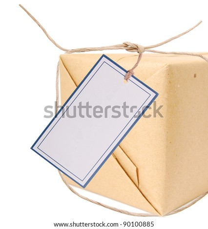 A shipping package gift - stock photo