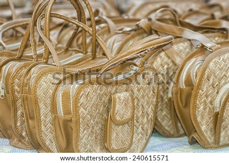 A shop full of bags - stock photo