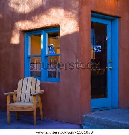 a shop in Taos NM - stock photo