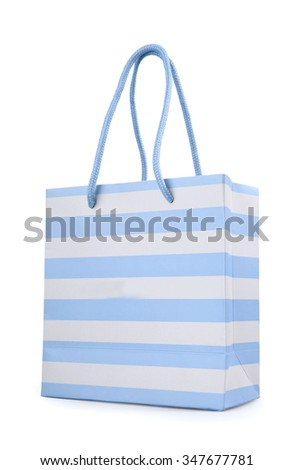 a shopping bag isolated on white background - stock photo