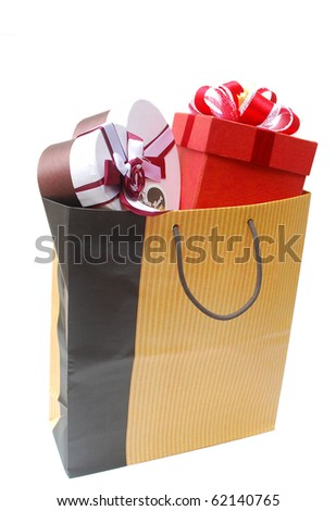 A shopping bag with gifts