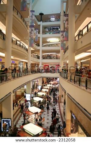 A shopping mall in Kuala Lumpur, Malaysia. - stock photo