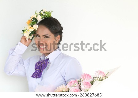 A shot of a beautiful asian woman - stock photo
