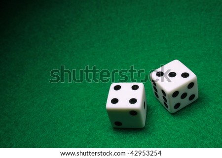 A shot of a pair of dice - stock photo