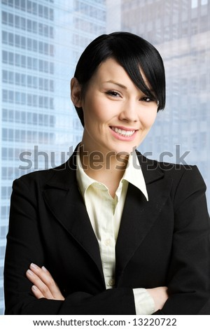 A shot of a young and beautiful businesswoman - stock photo