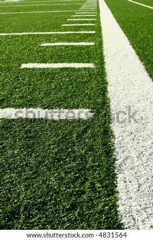 A shot of an american football field - stock photo