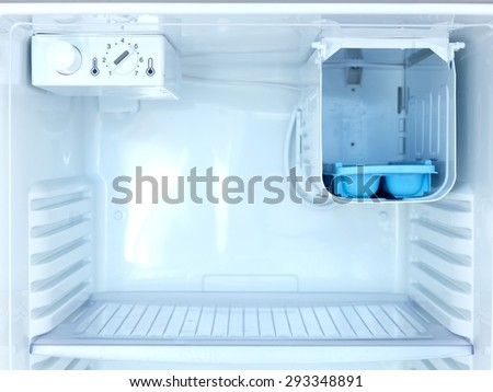 A shot of an open bar fridge - stock photo