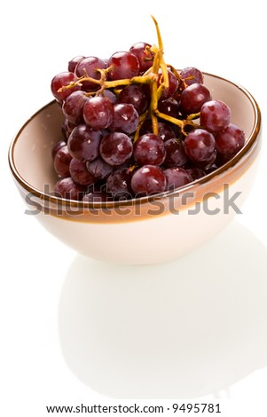 A shot of grapes in a bowl