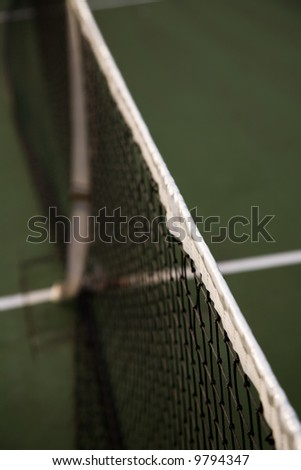 A shot of tennis net in the court