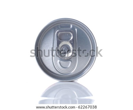 a shot of top of the soda can - stock photo