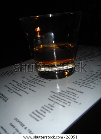 A shot of whiskey - stock photo