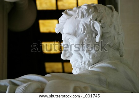 A side view of the Lincoln Memorial - stock photo