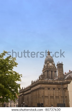 A Side View of the Victorian Town Hall Leeds Yorkshire