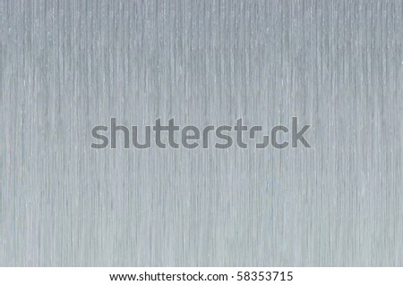 a silver brushed metallic background - stock photo