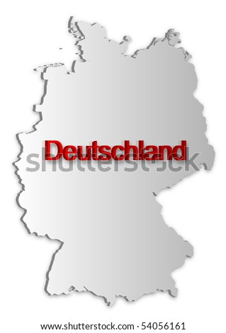 Simple D Vector Map Germany Stock Vector Shutterstock - Germany map simple