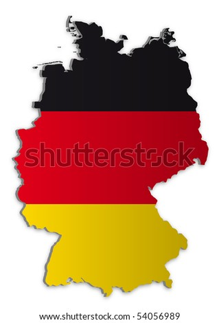 A simple 3D raster map of Germany. - stock photo