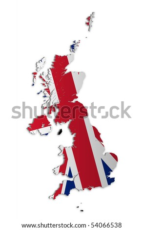 A simple 3D raster map of the UK and the Crown Dependencies.