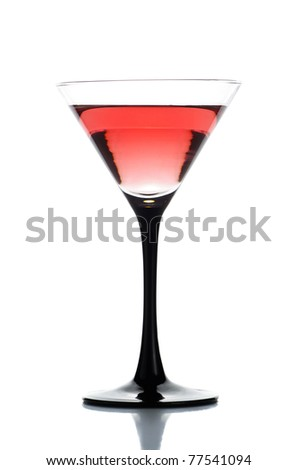 A simple drink isolated on a white background